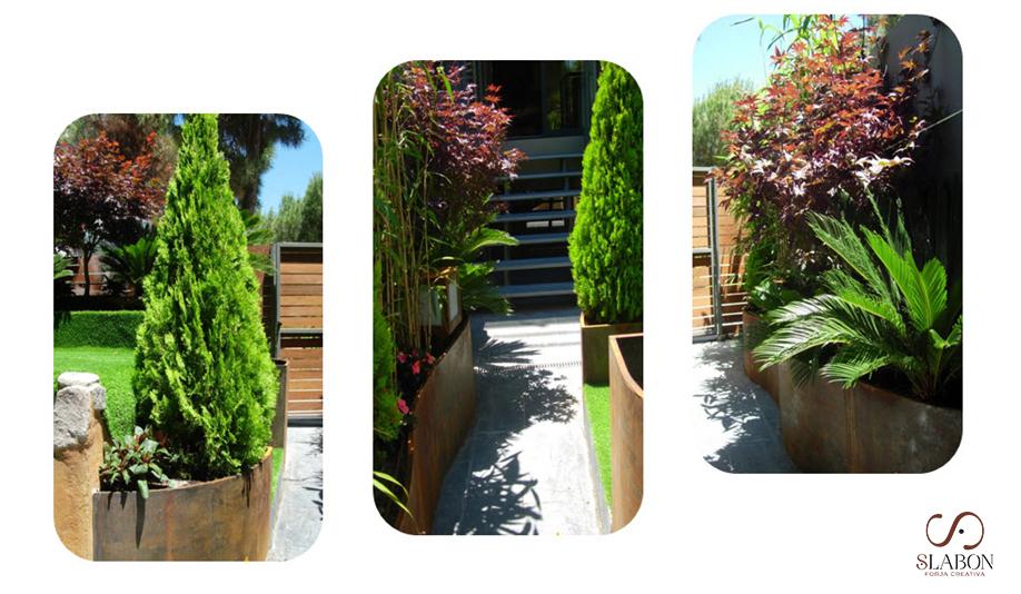 Jardinera acero cortén - Slabon Forja Creativa