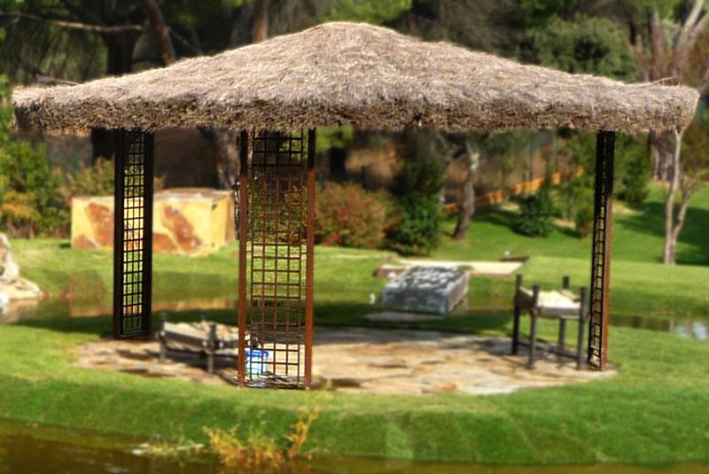 Slabon forja decoracion iluminacion fuentes mesas madrid - Cenadores y pergolas ...